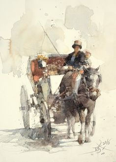 【出發 ! / SET OUT !】26 x 18 cm Watercolor sketch Demo by Chien Chung Wei
