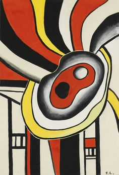 thunderstruck9: Fernand Léger (French, 1881-1955), Projet pour une peinture murale [Design for a mual painting], 1952. Gouache on paper, 68.9 x 51 cm.