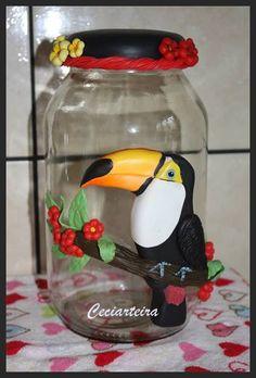 Polymer Clay jar, masa flexible, cold porcelain, masa francesa, porcelana fria