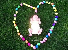Easter Baby...we will be taking this picture. Better start stocking up on plastic eggs! Spring Pictures, Holiday Pictures, Newborn Pictures, Baby Pictures, Easter Pictures For Babies, Family Pictures, Holiday Photography, Photography Ideas, Easter Baby