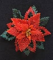Image result for beaded poinsettia