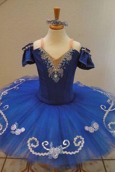 royal blue pancake tutu | finished product with matching arm ruffles and tiara.