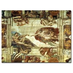The Creation of Adam by Michelangelo Painting Print on Canvas