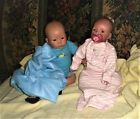Two Darling Vinyl Reborn Dolls. So Realistic! Nursery? Great Painted Hair.Year?