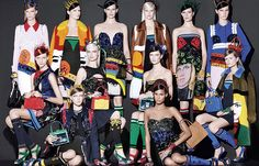 prada spring summer 2014 campaign1 See Pradas Complete Spring 2014 Campaign by Steven Meisel