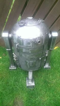 This is R2D2 log burner made by my husband He makes them for sale and can do almost any design...see his minions