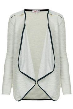 **Zip Detail Cardigan by Wal G