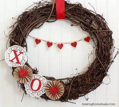 DIY heart wreath | Doors by Design