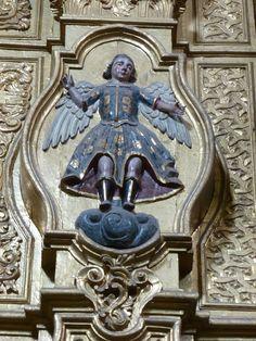 Arcángel, Retablo de la Inmaculada Concepción, Templo del Exconvento Agustino de San Juan de Sahagún, Salamanca, Gto. | da Tach Jrez. Hra.