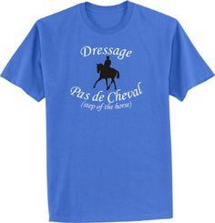 Dressage Pas de Cheval Horse and Rider Blue T-Shirt - Charlie Horse Apparel