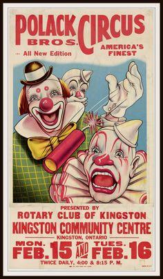 Vintage Reproduction Circus Poster Art Print #Circus