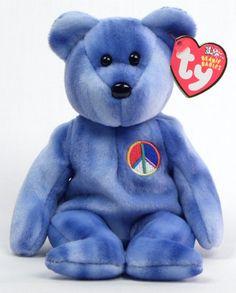302014e44eb Peace Symbol Bear - Ty Beanie Babies Rare Beanie Babies