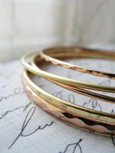 AMAZING! - Gold and rose gold bangles