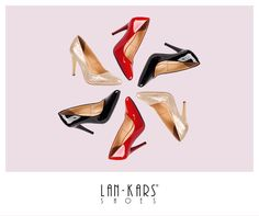 Klasyczne, kobiece szpilki.  #lankars #shoes #gif #stilletos #highheels #black #red #gold #golden #ocasion #nightout #winter #christmas #circle #moving #classy #secy #feminine #woman #leather #glossy #shiny #elegant