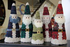 Cone Santas from Encompassing designs--so cute and festive!