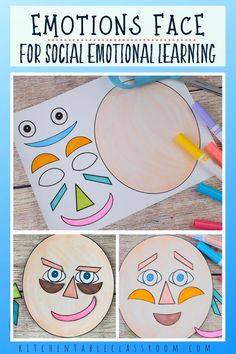 art therapy projects printables Use this free printable emotions face to start conversation about feelings and sharpen your childs social emotional intelligence. Emotions Preschool, Teaching Emotions, Emotions Activities, Free Preschool, Feelings And Emotions, Learning Activities, Preschool Activities, Kids Learning, Kids Printable Activities