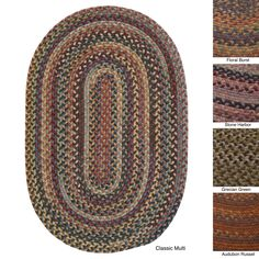 Add a stylish accent to your home with this small braided area rug. The 100 percent wool construction ensures durability, and the rug is reversible for convenience. Choose from a variety of pretty color combinations to match your decor.
