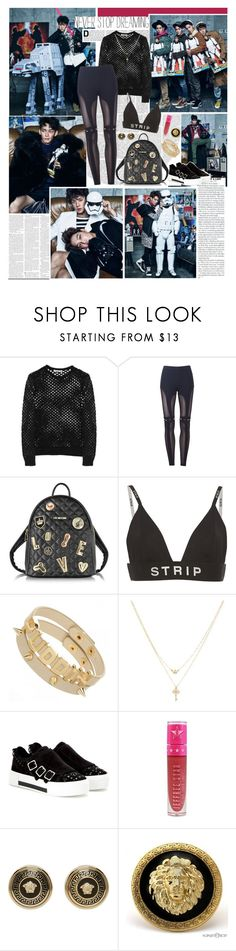 """I will never leave you"" by ita-varela ❤ liked on Polyvore featuring T By Alexander Wang, Love Moschino, Alexander Wang, Betsey Johnson, Alexander McQueen, Jeffree Star and Versace"