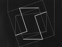 "Josef Albers ""Transformation A"" 1950 Relief Print 7 1/8 x 9 7/16"