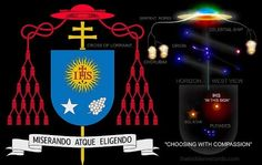 Pope Francis Coat Of Arms Explained: THE COAT OF ARMS IS A COMPLETE STAR MAP OF ORION AND PLEIADES SEEN ON THE WESTERN HORIZON AND IN CORRECT ORIENTATION.