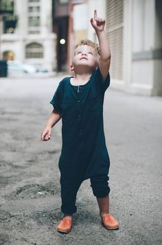 Harem romper in black, so chic. #designer #kids #fashion