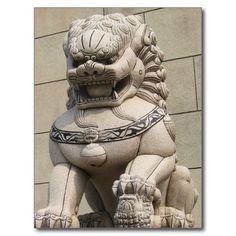 Chinese Female Guardian Lion Foo Dog 石獅