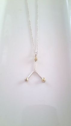 Cancer, which is Latin for crab, is the dimmest of the 13 constellations of the Zodiac, having only two stars above the fourth magnitude. Handmade Necklaces, Handmade Gifts, Constellation Necklace, Star Constellations, Zodiac, Cancer, Brass, Unique Jewelry, Silver