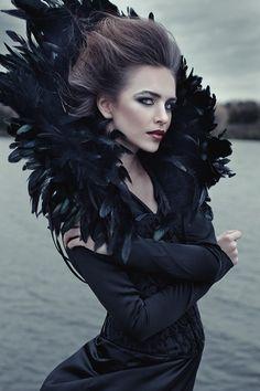 """Queen of ravens""photo - Ekaterina Belinskayamake up- Hélène Kaddakhamodel-Kate Shushakovaclothes-meps-raven is real and alive=)"