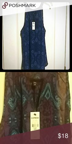Express flowy tank top, NWT Pretty purple, blue, turquoise flowy top. NWT Express Tops Blouses