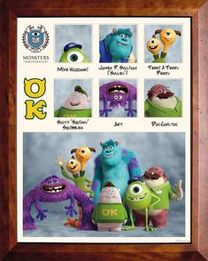 Monsters University, i poster delle confraternite