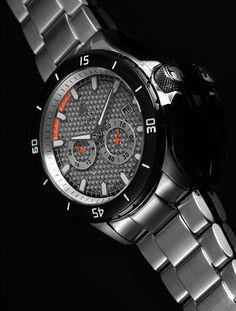 Carucci limited edition 300 pieces worldwide € 249,- Carucci only manufactures automatic watches. This one has a carbon dial and is 10atm waterproof. The quality and finish on this watch is unique for the price. www.megawatchoutlet.com Popular Sports, Sport Watches, Automatic Watch, Smart Watch, Unique, Clocks, Smartwatch