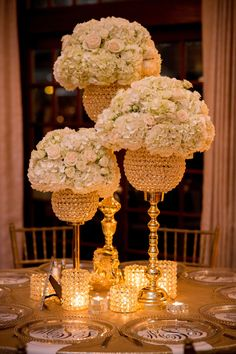 Floral Wedding Centerpieces Planning and Tips - Love It All Wedding Table Centerpieces, Flower Centerpieces, Flower Arrangements, Wedding Decorations, Table Decorations, Centerpiece Ideas, Bling Centerpiece, Crystal Centerpieces, Centrepieces