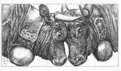 """Résultat de recherche d'images pour """"vache herens"""" Moose Art, Images, Lion Sculpture, Statue, Illustration, Crayons, Animal Paintings, Cow, Animaux"""