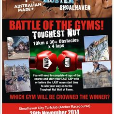 MUD MUSTER A3 poster Battle of the Gyms-Smartarts Design