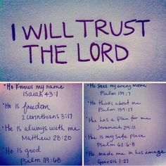 i will trust the Lord
