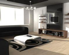 long floating shelves tv wall design and living room tv on ...