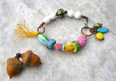 walking on sunshine bracelet  . . . by marthasrubyacorn on Etsy, $48.00
