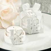 Celebrate your love with glitz and glam at your bridal shower or wedding with a practical and fun favor. The Bling Collection White LOVE Candle Holders will make for a warm welcome to the guests on your. Candle Wedding Favors, Candle Favors, Wedding Party Favors, Bridal Shower Favors, Candle Holders, Wedding Ideas, Wedding Souvenir, Wedding Stuff, Bridal Showers