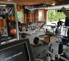 Top 75 Best Garage Gym Ideas - Home Fitness Center Designs - Home Gym - Home Gym Basement, Home Gym Garage, Diy Home Gym, Gym Room At Home, Home Gym Decor, Best Home Gym, Car Garage, Crossfit Garage Gym, Basement Ideas