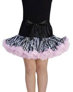 Zebra Tutus for Girls | ... Clearance / Accessories / Black, White and Pink Zebra Print Girls Tutu