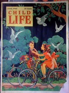 Vintage Magazine Cover | Child Life | June 1942: | illustrated by Janet Smalley (American illustrator, 1893-1965)