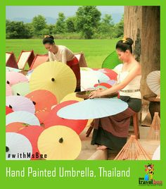 Paint a beautiful umbrella for yourself, exciting isn't it!! Watch and learn Thai umbrella painting while on trip to ‪#‎Thailand‬ ‪#‎withMsBee‬. More details at http://www.mstravelbee.com/womentour/detail/62/thailand-tour