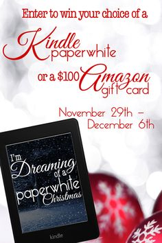 """Grand Prize - Kindle Paperwhite (US only) OR a $100 Amazon Gift Card (Open Internationally). Prize includes 30+ classic Christmas stories that will be delivered to your Kindle. *2nd Prize - (3) winners will be chosen to win a Kindle copy of """"The Little Drummer Boy"""" by Sydney Logan. *3rd Prize - (3) winners will be chosen to win a Kindle copy of """"Window"""" by T.M. Franklin"""