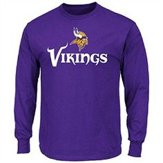 Minnesota Vikings Pruple Critical Victory 9 Long Sleeve Tee Shirt by Majestic Small *** Want additional info? Click on the image.