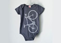 New parents are often impatient to start cycling with kids, but this Heather Bicycle Infant Onesie is definitely a start. Made of cotton and...