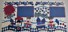 Patriotic Train layout created by Carla with Scrapbook Haven Retreat for Treasure Box Designs.
