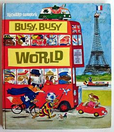 Richard Scarry - Busy, Busy World - one of my favorite childhood books! Richard Scarry, Good Books, My Books, Delphine, Little Golden Books, My Childhood Memories, Childhood Toys, Sweet Memories, Vintage Children's Books