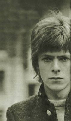 David Bowie in mid-late 60's. ||| Little grumpy boy! Hahaha