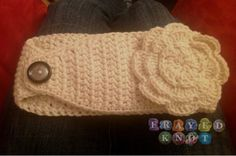 Crochet headband, thinking Maroon with a white flower for school football games!!