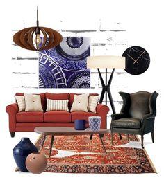 """moodboard.6"" by squirreldaria on Polyvore featuring interior, interiors, interior design, home, home decor, interior decorating, Madison Park, Sonneman, Frontgate and Cassina"